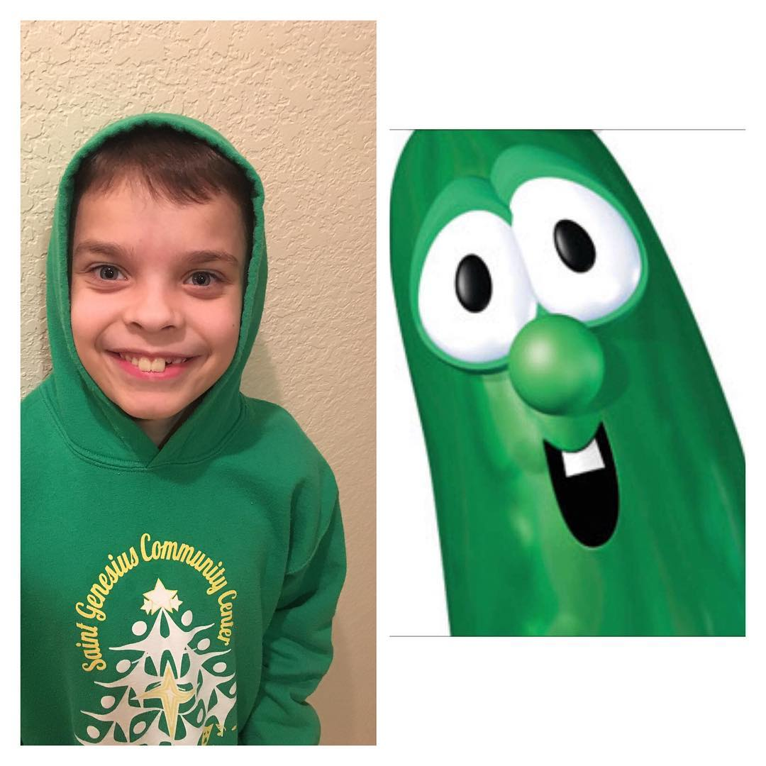 My oldest will be getting vaccines without fussing and acting all mature about some things... getting gift cards for Subway from the pediatrician instead of stickers and a toy... and then, he busts out with Veggietales lyrics! Good to know he's still my #kid. #thatmomentyourealizeyoureraisinglarry #ilovemylips #veggietales @veggietalesofficial