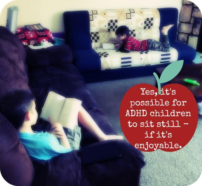 Anakin and Caleb reading
