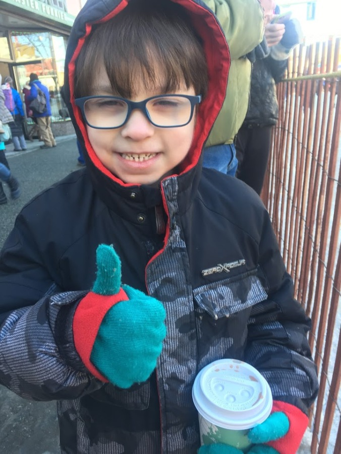 Caleb at Iditarod Start